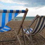 Deckchairs on a cold day