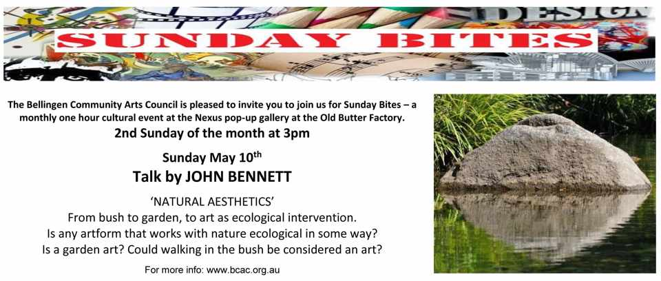 Natural Aesthetics, free talk by John Bennett, May 10, Nexus