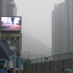 Seoul jogging, smog, fog and rain