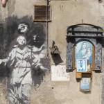 Naples street graffito