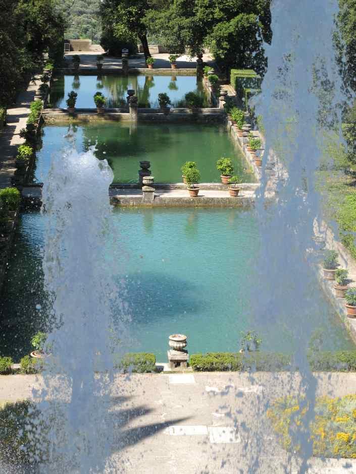 Villa D'Este, the three fish ponds