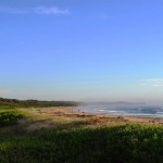 Letter Box Beach, Valla,  sea mist