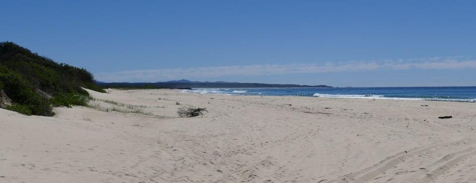 South of Urunga Lagoon, looking north