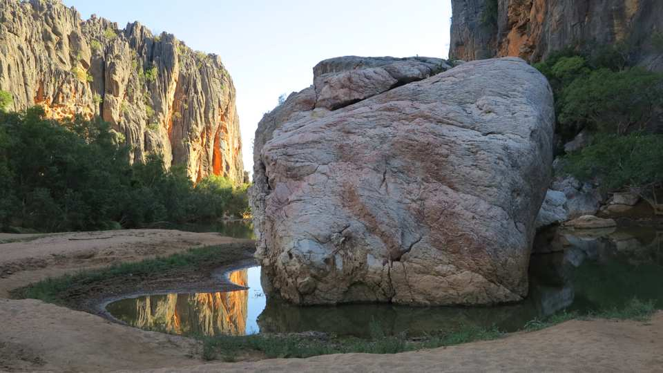 Windjana Gorge Bandangnan, boss-man rock