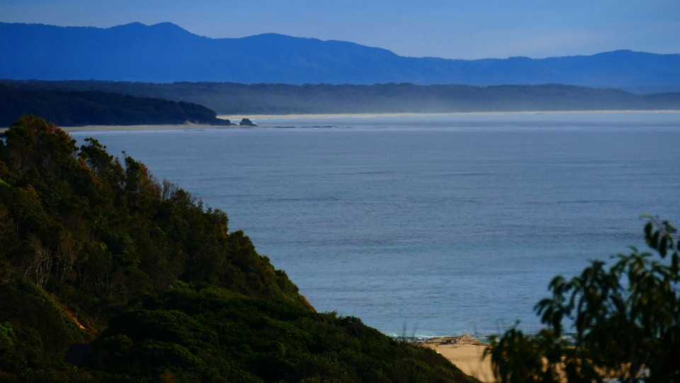 Nambucca, Capt Cooks Lookout, looking north to Valla Beach