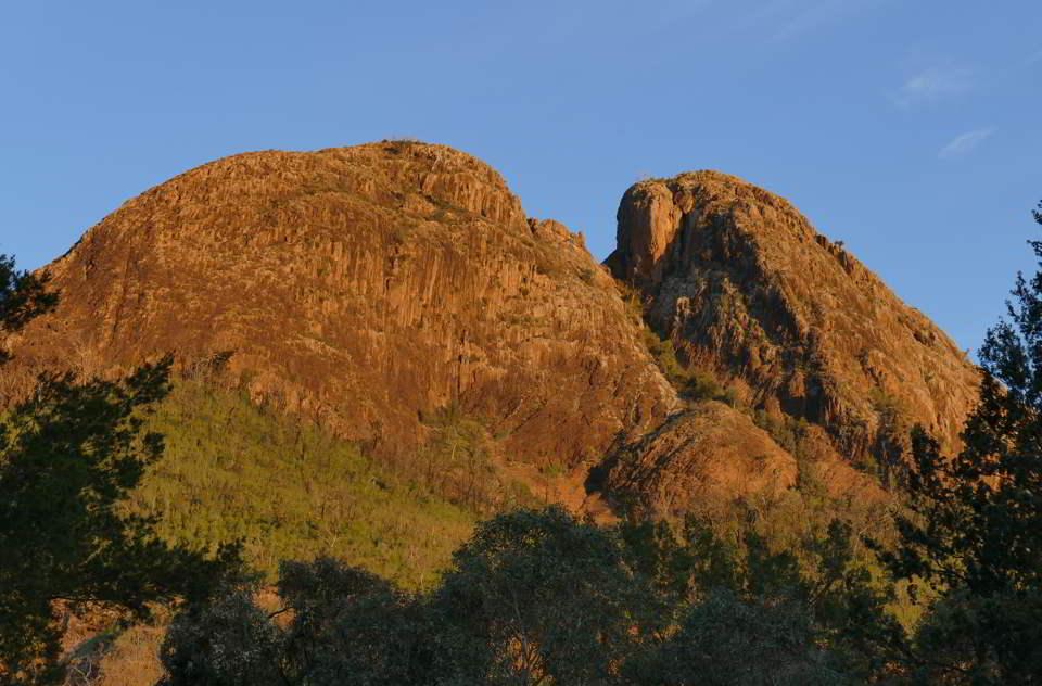Belougery Split Rock, sunset