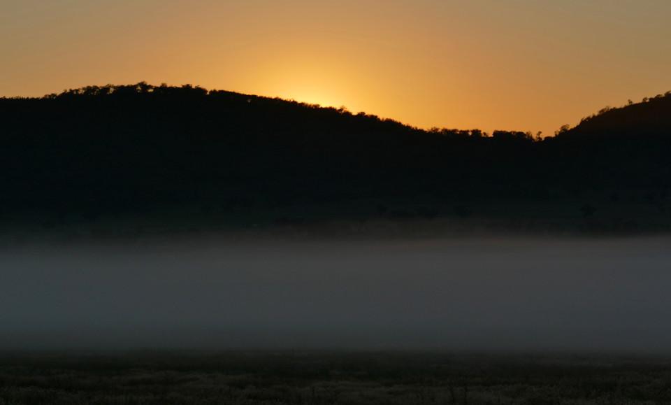 Leaving Oakhampton misty Eos