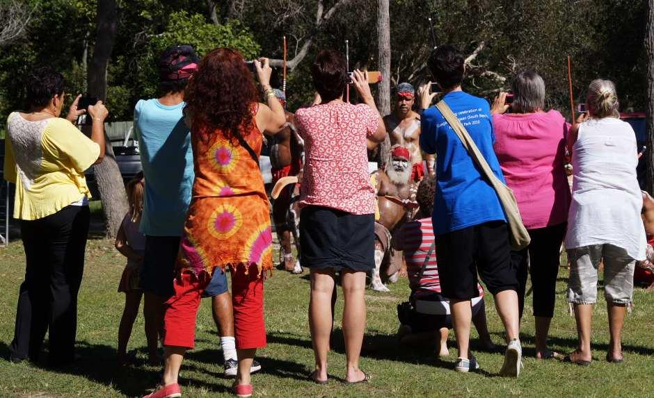 Gumbaynggirr dancers posing