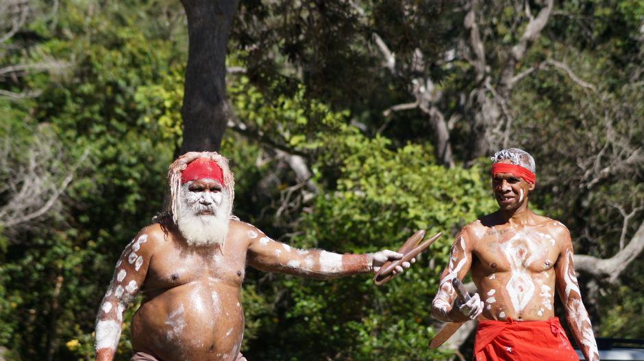 Uncle Martin & Gumbaynggirr dancer