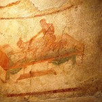 Pompeii brothel painting