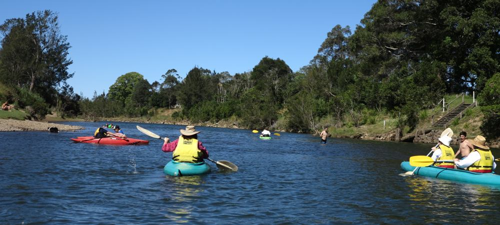 Paddle with a Poet, setting off