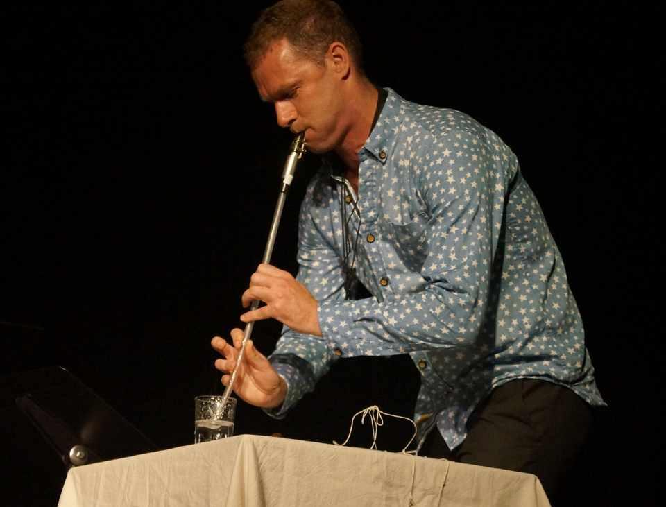 Jason Noble glass clarinet, John Cage 'three2'