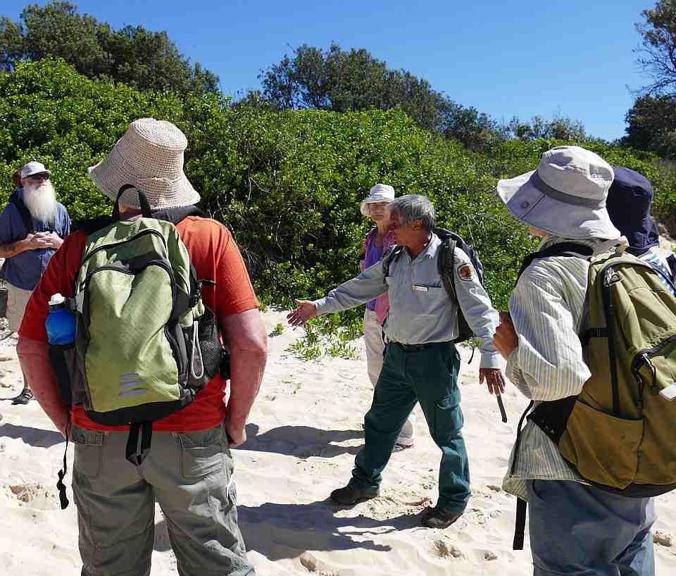 Photo of Gumbaynggirr Land Management walk with Mark Flanders