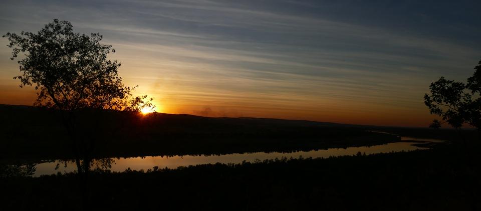 Pentacost River sunset