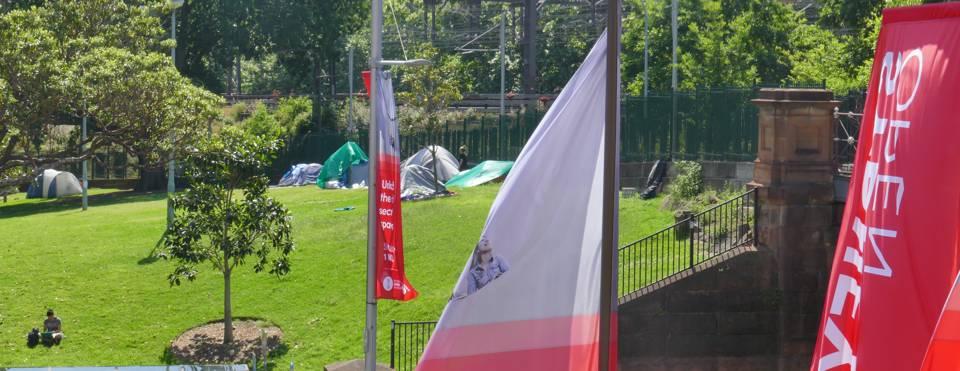 Tent city Belmore Park