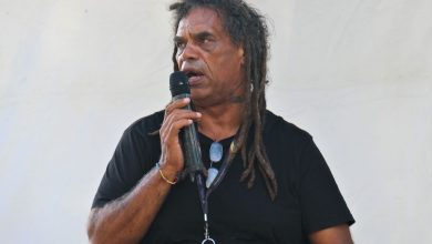 Photo of Uncle Michael 'Micklo' Jarrett's Welcome to Gumbaynggirr Country